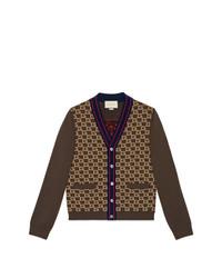 Cárdigan en marrón oscuro de Gucci