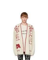 Cárdigan estampado blanco de Gucci