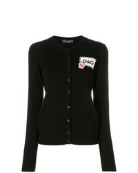 Cárdigan estampado en negro y blanco de Dolce & Gabbana