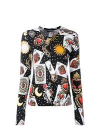 Cárdigan estampado negro de Dolce & Gabbana