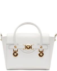 Cartera de cuero blanca de Versace