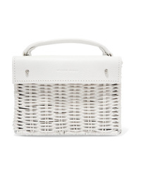 Cartera de cuero blanca de Wicker Wings