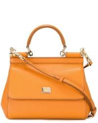 Cartera de Cuero Naranja de Dolce & Gabbana