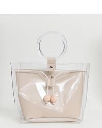 Cartera de goma transparente de Glamorous