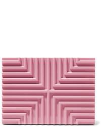 Cartera sobre con estampado geométrico rosa de Lee Savage