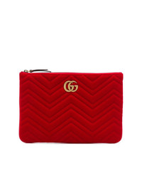 Cartera Sobre de Ante Roja de Gucci