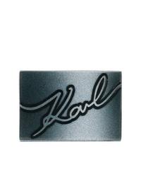 Cartera sobre de cuero azul marino de Karl Lagerfeld