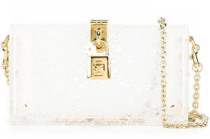 Cartera sobre de cuero blanca de Dolce & Gabbana