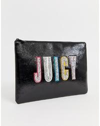 Cartera sobre de cuero con adornos negra de Juicy Couture
