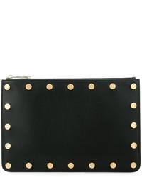 Cartera Sobre de Cuero con Tachuelas Negra de Givenchy