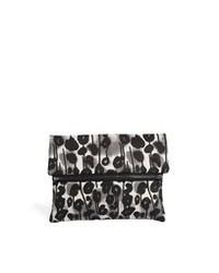 Cartera sobre de cuero de leopardo negra de Cheap Monday