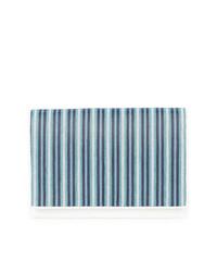 Cartera sobre de cuero de rayas verticales en turquesa de Dvf Diane Von Furstenberg