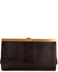 Cartera sobre de cuero en marrón oscuro de Dolce & Gabbana