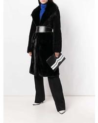 Cartera sobre de cuero en negro y blanco de Givenchy