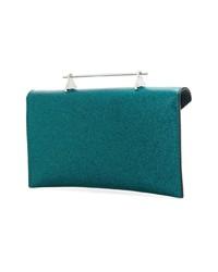 Cartera sobre de cuero en verde azulado de M2Malletier