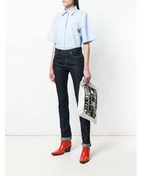 Cartera Sobre de Cuero Estampada Blanca y Negra de Calvin Klein 205W39nyc