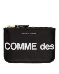 Cartera sobre de cuero estampada en negro y blanco de Comme des Garcons Wallets