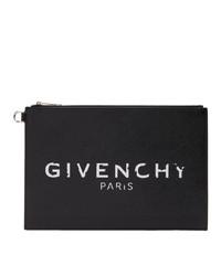 Cartera sobre de cuero estampada en negro y blanco de Givenchy