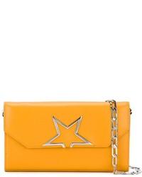 Cartera sobre de cuero naranja de Golden Goose Deluxe Brand