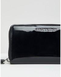 Cartera sobre de cuero negra de Armani Exchange