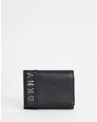 Cartera sobre de cuero negra de DKNY