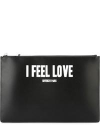 Cartera sobre de cuero negra de Givenchy
