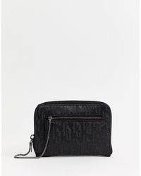 Cartera sobre de cuero negra de Juicy Couture