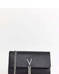 Cartera sobre de cuero negra de Valentino by Mario Valentino
