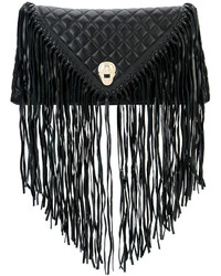 Cartera sobre de cuero сon flecos negra de Thomas Wylde