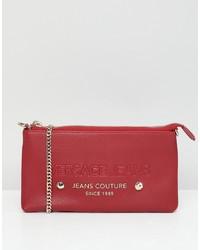 Cartera sobre de cuero roja de Versace Jeans