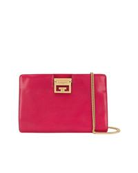 Cartera sobre de cuero rosa de Givenchy
