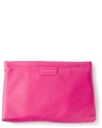 Cartera sobre de cuero rosa de Marc by Marc Jacobs