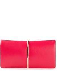 Cartera sobre de cuero rosa de Nina Ricci