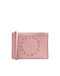 Cartera sobre de cuero rosada de Stella McCartney