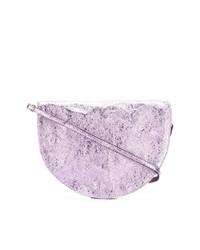 Cartera sobre de cuero violeta claro de Zilla