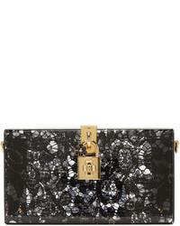 Cartera sobre de encaje negra de Dolce & Gabbana