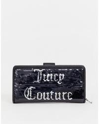 Cartera sobre de lentejuelas negra de Juicy Couture