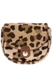 Cartera sobre de leopardo marrón claro
