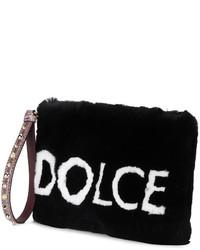 Cartera sobre de pelo negra de Dolce & Gabbana
