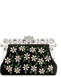 Cartera sobre de terciopelo con adornos negra de Dolce & Gabbana
