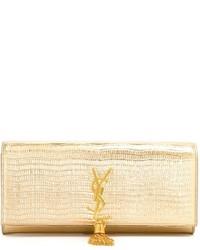 Cartera sobre dorada de Saint Laurent