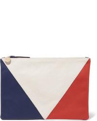 Cartera sobre en blanco y rojo y azul marino de Clare Vivier