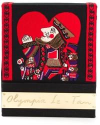 Cartera sobre en rojo y negro de Olympia Le-Tan