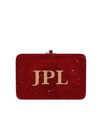 Cartera sobre estampada burdeos de Judith Leiber Couture