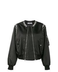 Cazadora de aviador con adornos negra de Givenchy