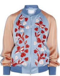 Cazadora de Aviador de Flores Azul de Jonathan Saunders