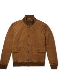 Cazadora de aviador de ante marrón de Polo Ralph Lauren