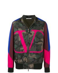 Cazadora de aviador de camuflaje en multicolor de Valentino