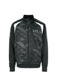 Cazadora de aviador de camuflaje negra de Ea7 Emporio Armani