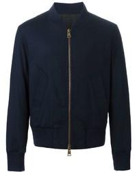 Cazadora de aviador de lana azul marino de AMI Alexandre Mattiussi